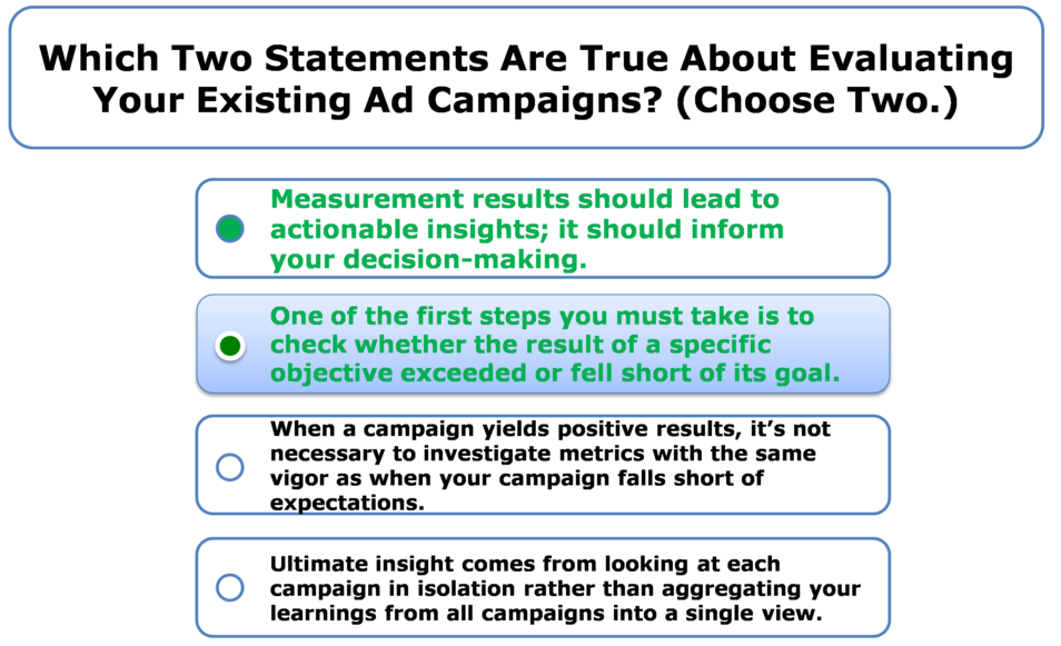Which Two Statements Are True About Evaluating Your ...