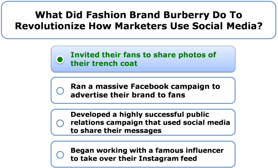 What Did Fashion Brand Burberry Do To Revolutionize How Marketers Use Social Media?