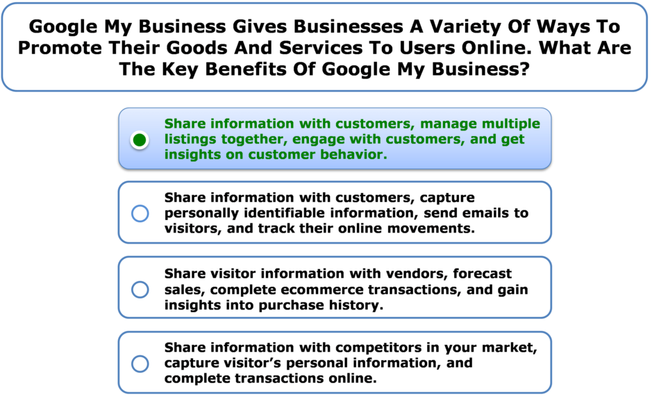 Google My Business Gives Businesses A Variety Of Ways To Promote Their Goods And Services To Users Online. What Are The Key Benefits Of Google My Business?