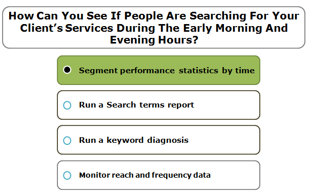 How Can You See If People Are Searching For Your Client's Services During The Early Morning And Evening Hours?