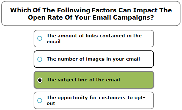 Which Of The Following Factors Can Impact The Open Rate Of Your Email Campaigns?