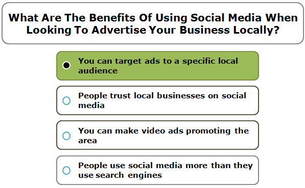 What Are The Benefits Of Using Social Media When Looking To Advertise Your Business Locally?
