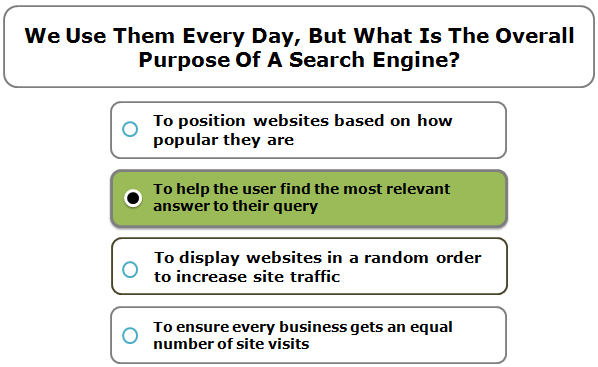 We Use Them Every Day, But What Is The Overall Purpose Of A Search Engine?