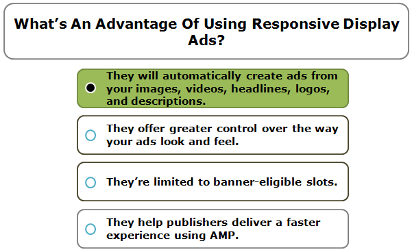 What's An Advantage Of Using Responsive Display Ads?