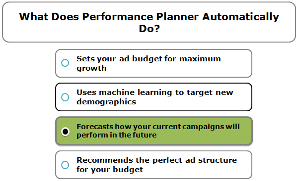 What Does Performance Planner Automatically Do?