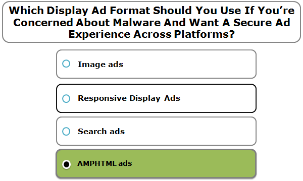 Which Display Ad Format Should You Use If You're Concerned About Malware And Want A Secure Ad Experience Across Platforms?