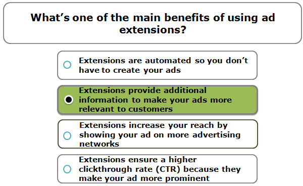 What's one of the main benefits of using ad extensions?
