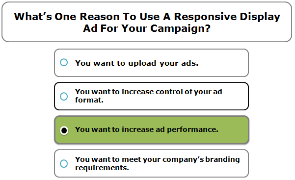 What's One Reason To Use A Responsive Display Ad For Your Campaign?