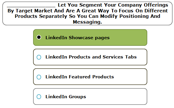 _______________ Let You Segment Your Company Offerings By Target Market And Are A Great Way To Focus On Different Products Separately So You Can Modify Positioning And Messaging.