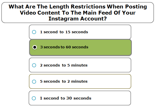 What Are The Length Restrictions When Posting Video Content To The Main Feed Of Your Instagram Account?