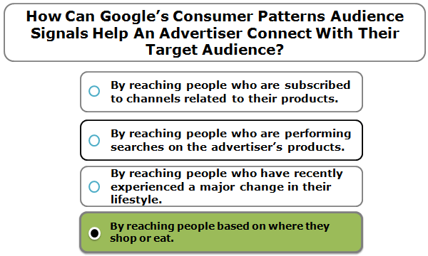 How Can Google's Consumer Patterns Audience Signals Help An Advertiser Connect With Their Target Audience?