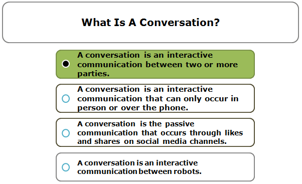 What Is A Conversation?