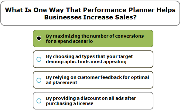What Is One Way That Performance Planner Helps Businesses Increase Sales?