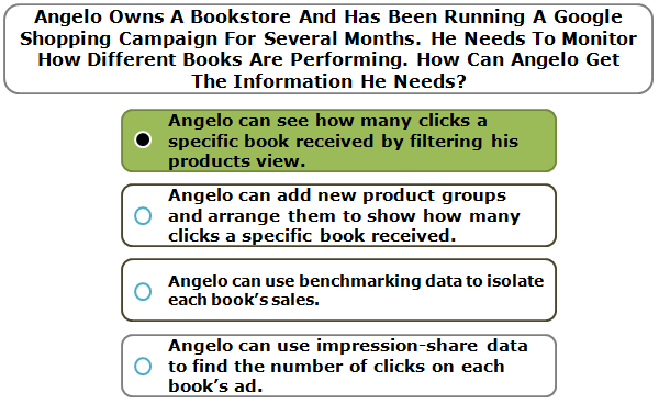 Angelo Owns A Bookstore And Has Been Running A Google Shopping Campaign For Several Months. He Needs To Monitor How Different Books Are Performing. How Can Angelo Get The Information He Needs?