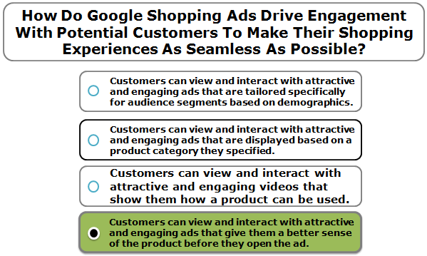 How Do Google Shopping Ads Drive Engagement With Potential Customers To Make Their Shopping Experiences As Seamless As Possible?