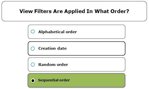 View filters are applied in what order?