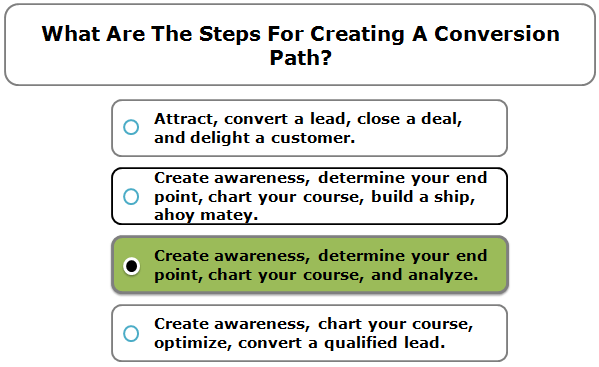 What are the steps for creating a conversion path?