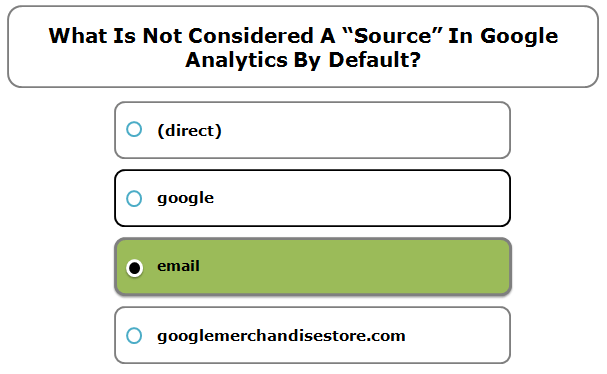 """What is not considered a """"source"""" in Google Analytics by default?"""