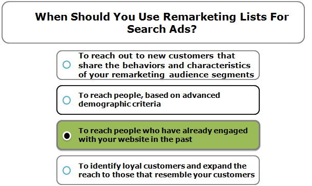 When should you use Remarketing Lists for Search Ads?