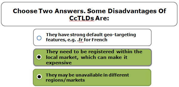 Choose Two Answers. Some Disadvantages Of CcTLDs Are: