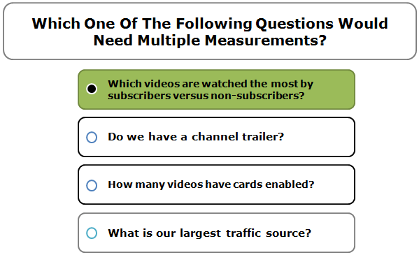 Which One Of The Following Questions Would Need Multiple Measurements?