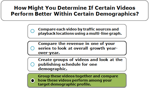 How Might You Determine If Certain Videos Perform Better Within Certain Demographics?