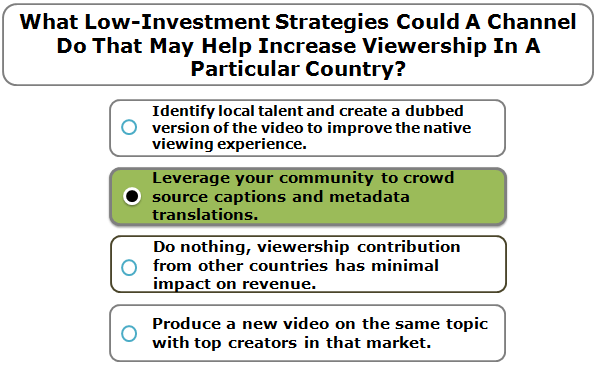 What Low-Investment Strategies Could A Channel Do That May Help Increase Viewership In A Particular Country?