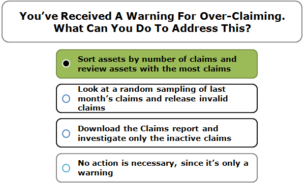 You've Received A Warning For Over-Claiming. What Can You Do To Address This?