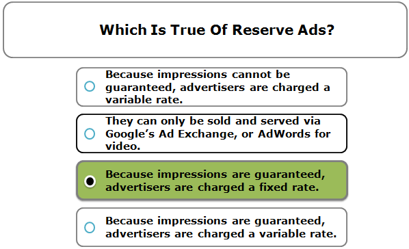 Which Is True Of Reserve Ads?