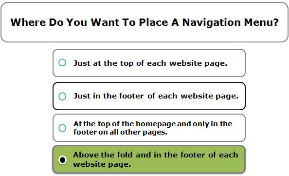 Where Do You Want To Place A Navigation Menu?