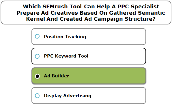Which SEMrush Tool Can Help A PPC Specialist Prepare Ad Creatives Based On Gathered Semantic Kernel And Created Ad Campaign Structure?