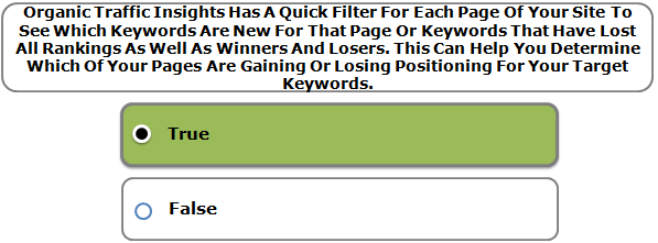 Organic Traffic Insights Has A Quick Filter For Each Page Of Your Site To See Which Keywords Are New For That Page Or Keywords That Have Lost All Rankings As Well As Winners And Losers. This Can Help You Determine Which Of Your Pages Are Gaining Or Losing Positioning For Your Target Keywords.