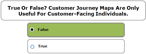 True Or False? Customer Journey Maps Are Only Useful For Customer-Facing Individuals.