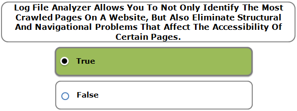 Log File Analyzer Allows You To Not Only Identify The Most Crawled Pages On A Website, But Also Eliminate Structural And Navigational Problems That Affect The Accessibility Of Certain Pages.