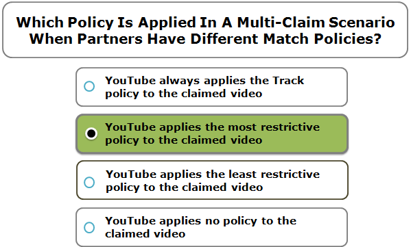 Which Policy Is Applied In A Multi-Claim Scenario When Partners Have Different Match Policies?