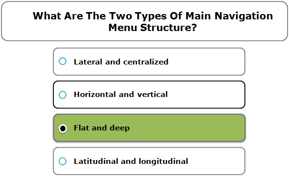 What Are The Two Types Of Main Navigation Menu Structure?