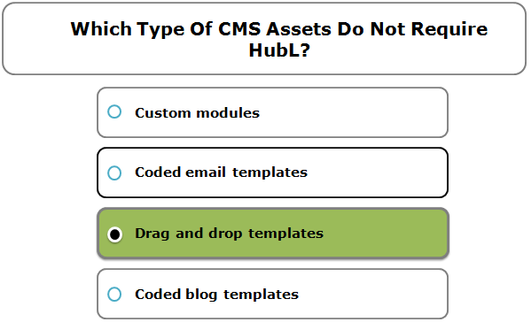 Which Type Of CMS Assets Do Not Require HubL?