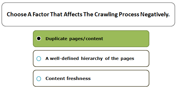 Choose A Factor That Affects The Crawling Process Negatively.