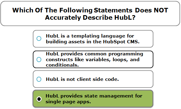 Which Of The Following Statements Does NOT Accurately Describe HubL?