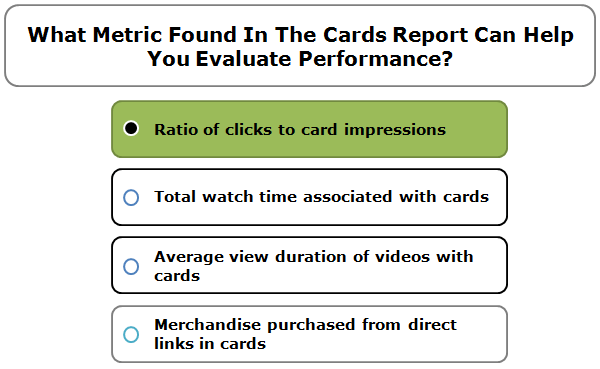What Metric Found In The Cards Report Can Help You Evaluate Performance?