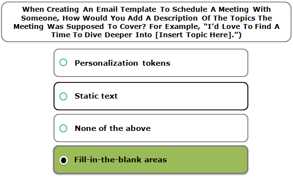 "When Creating An Email Template To Schedule A Meeting With Someone, How Would You Add A Description Of The Topics The Meeting Was Supposed To Cover? For Example, ""I'd Love To Find A Time To Dive Deeper Into [Insert Topic Here]."")"