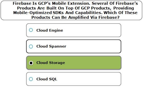 Firebase Is GCP's Mobile Extension. Several Of Firebase's Products Are Built On Top Of GCP Products, Providing Mobile-Optimized SDKs And Capabilities. Which Of These Products Can Be Amplified Via Firebase?