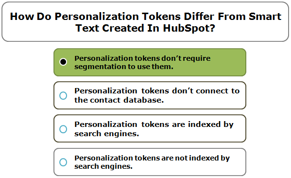How Do Personalization Tokens Differ From Smart Text Created In HubSpot?