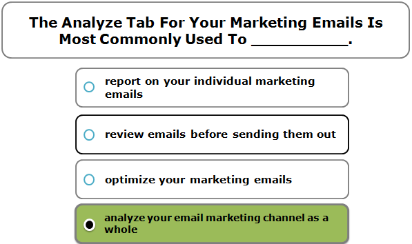 The Analyze Tab For Your Marketing Emails Is Most Commonly Used To __________.