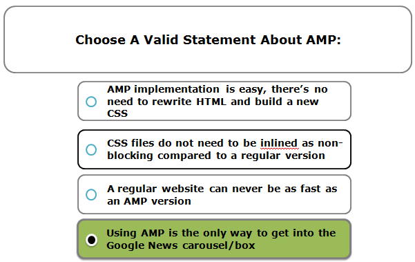 Choose A Valid Statement About AMP: