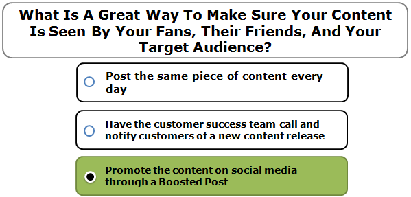 What Is A Great Way To Make Sure Your Content Is Seen By Your Fans, Their Friends, And Your Target Audience?