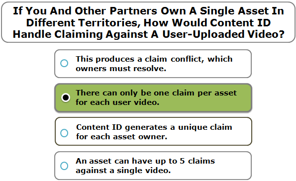 If You And Other Partners Own A Single Asset In Different Territories, How Would Content ID Handle Claiming Against A User-Uploaded Video?