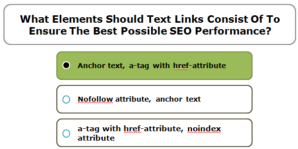 What Elements Should Text Links Consist Of To Ensure The Best Possible SEO Performance?