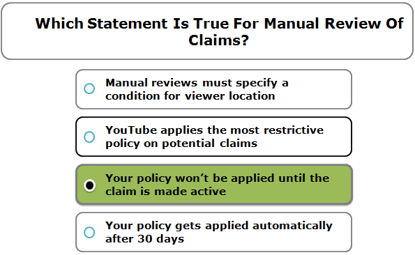 Which Statement Is True For Manual Review Of Claims?