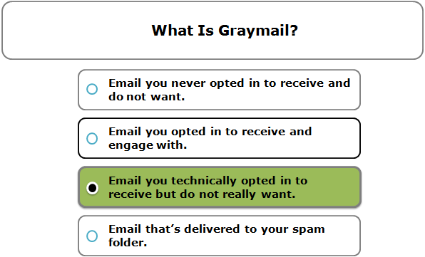 What is graymail?